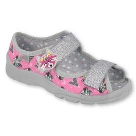 Dětská obuv Befado 969X162 růžový stříbro