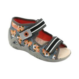 Žlutá dětská obuv Befado 350P016 oranžový šedá