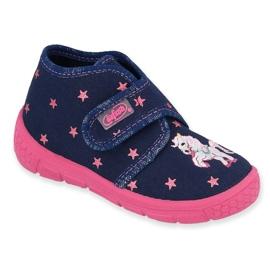 Dětská obuv Befado 538P015 válečné loďstvo růžový