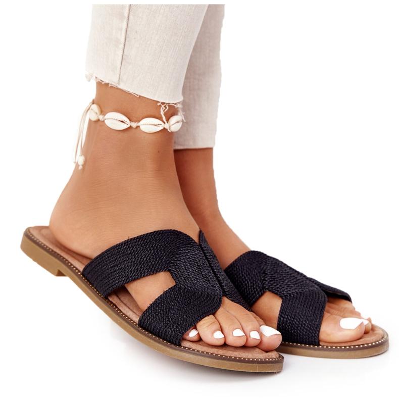 Elegantní dámské pantofle S.Barski Black černá