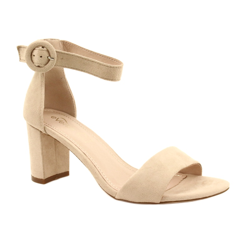 Sandály na podpatku béžové Evento 20SD98-1617 béžový