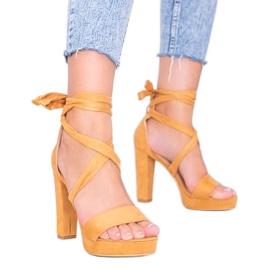 Šněrovací sandály Ginny velbloudí hnědý