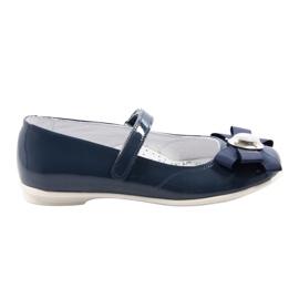 Baletky dětské boty Bartek 45418 tmavě modré bílá vícebarevný modrý