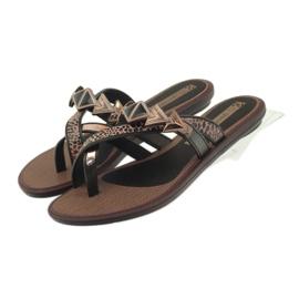 Ipanema hnědý Dámské boty se žabky se žabky Grendha