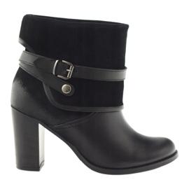 Černá klasická dámská obuv zimní boty Edeo 1754