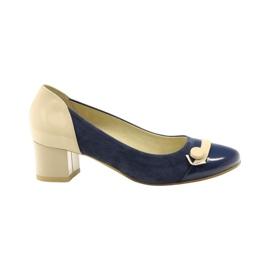 Dámská obuv Edeo 1900 tmavě modrá hnědý modrý