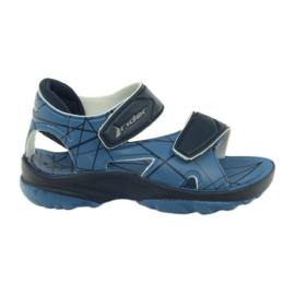 Modré sandály dětské boty na suché zipy pro vodu Rider