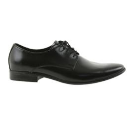 Černá kožená klasická obuv TUR 231