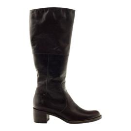 Hnědý Hnědé dámské boty Anabelle 503
