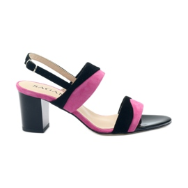 Sandály pro ženy Sagan 2687 černá fuchsie