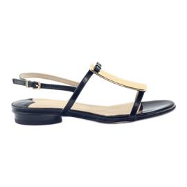 Dámské sandály zlaté dekorace Sagan 2698