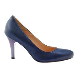 Mojo Lodičky pohodlné modré kovové podpatky vícebarevný