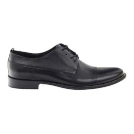 Černá Badura klasické černé boty pro muže 7599