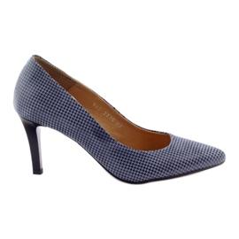Espinto Espoo 542 dámská obuv černá modrý šedá