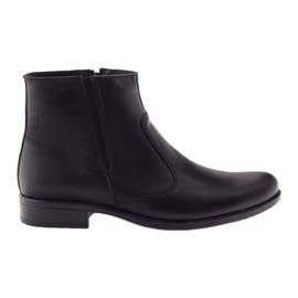 Černá Pánské zimní boty Tur 268 černé