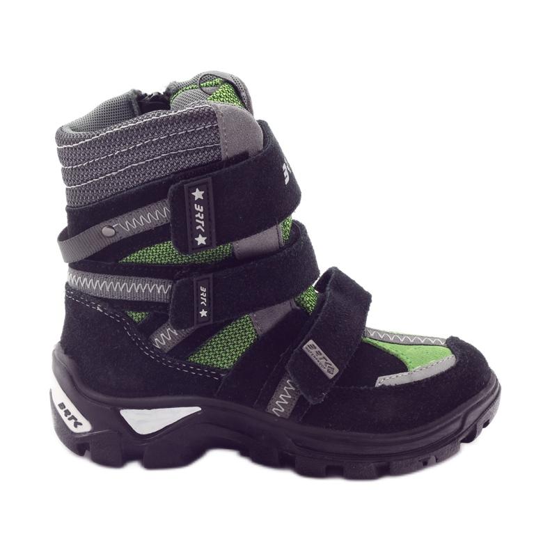Boty s membránou Bartek 94137 černé zelená šedá černá
