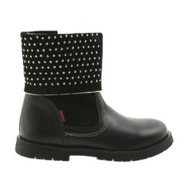 Černá Dívčí boty Zarro 94/7 černé trysky