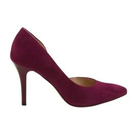 Dámské boty Suede semiš Anis cherry červená vícebarevný