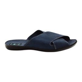 Pánské pantofle Adanex 20308 tmavě modrá válečné loďstvo
