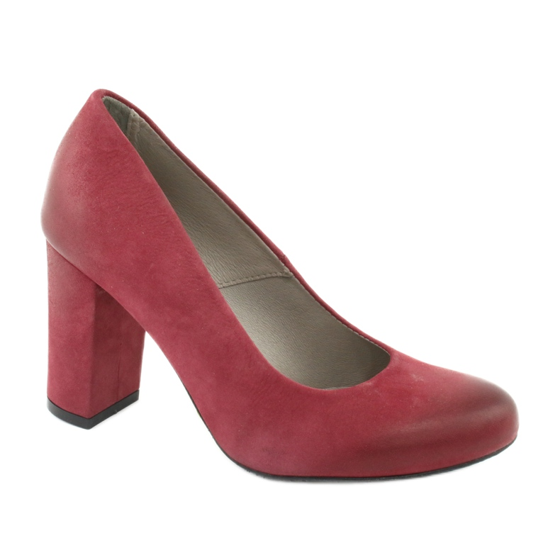 Klasické dámské boty Edeo 2119 burgundské vícebarevný