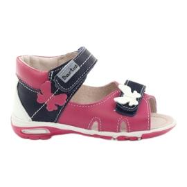Dívčí sandály - motýl Bartuś růžový