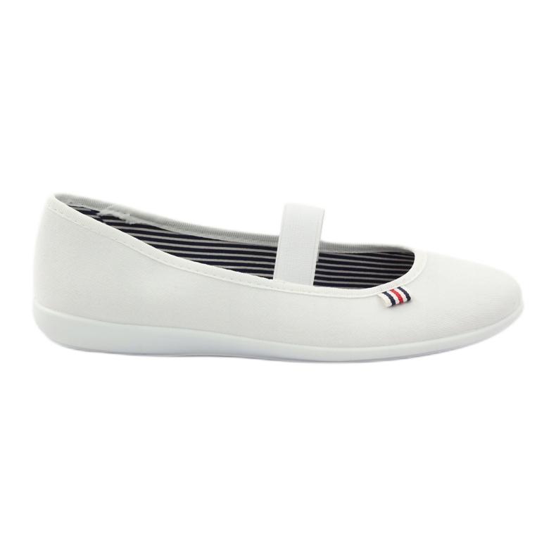 Dámské bílé tenisky Befado 493Q003 bílé bílá červená vícebarevný