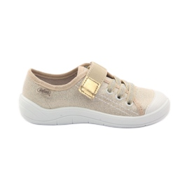 Pantofle dívčí tenisky Befado 251x071 gold