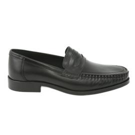 Pilpol černá Mokasíny boty černé Pilbut 01