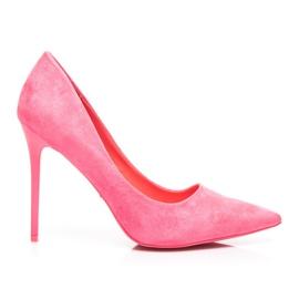 Vices Jarní vysoké podpatky růžový