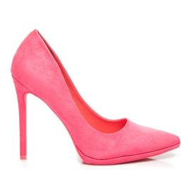Seastar Růžové semišové vysoké podpatky růžový