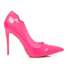 Betler Malované neonové podpatky růžový
