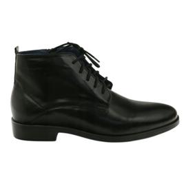 Černá Zimní boty na zipu Nikopol 663 černé
