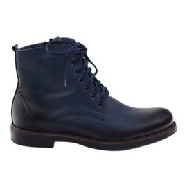 Válečné loďstvo Kotníkové boty Nikopol 660 tmavě modré
