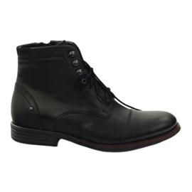 Černá Zimní boty s Pilpol 6009 zipem černé