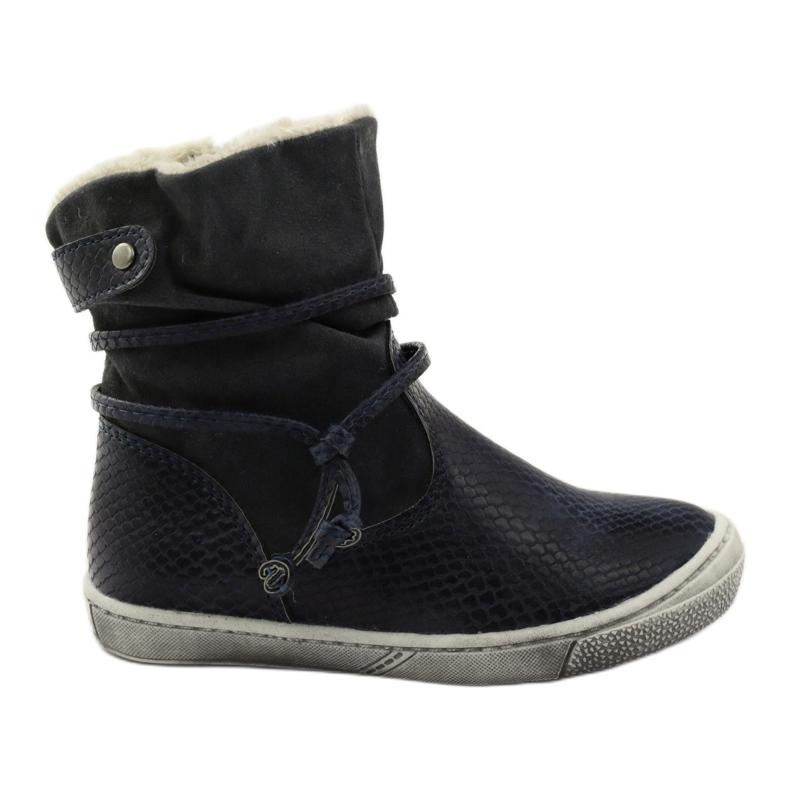 American Club Zimní boty, vysoké boty, tmavomodré, americké 16183 válečné loďstvo