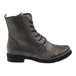 Edeo černá Kotníkové boty pracovní černé kovové