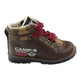 American Club Boty boty se zipem 16221 hnědé hnědý