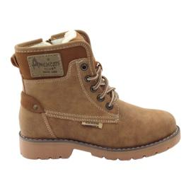 American Club hnědý Zimní boty, boty, boty, zip americký 1904 velbloud