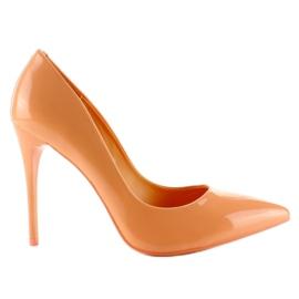 Oranžový Hladká lakovaná barva E396 oranžová