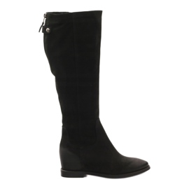 Boty s ozdobným Edeo 3138 zipem černá