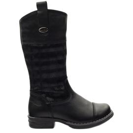 Kožené boty Ren But 322 3D černá