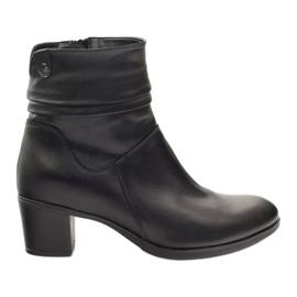 Černá Kožené boty Gregors 614