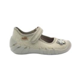 Žlutý Befado dětská obuv balerína papuče 109p163