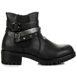 Erynn Jodhpur boty s přezkami černá