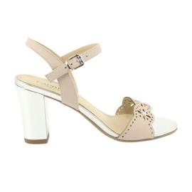 Caprice sandále dámské boty 28303 růžový