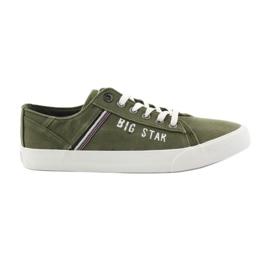 Big Star Velké hvězdy tenisky 174315 khaki tenisky zelená