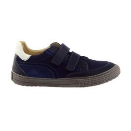 Válečné loďstvo Chlapčenské boty, suchý zip Bartuś, námořnický modrý