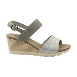 Šedá Caprice sandály dámské boty 28701