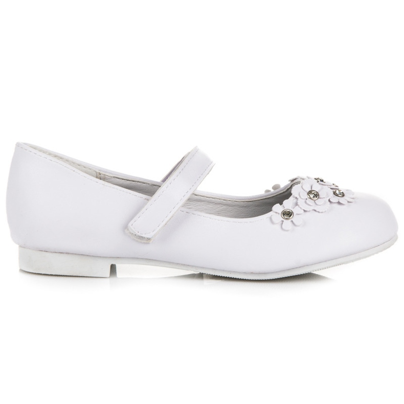 American Club Bílé baletky se suchým zipem bílá