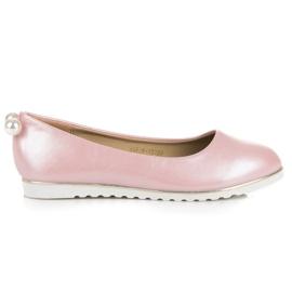 Vinceza Perlové baleríny růžový